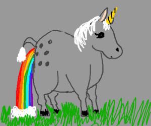 Fat unicorn poops rainbows