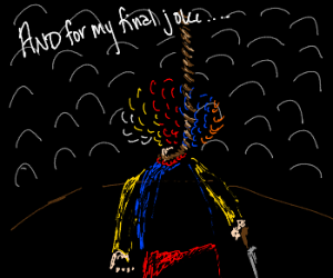 Clown makes his final joke before suiciding