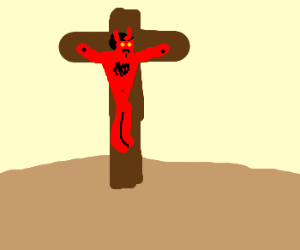 Devil on a cross