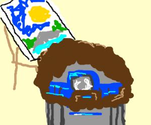 R2D2 as Bob Ross