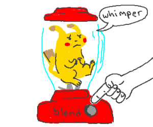 Soon we will find out... Will Pikachu blend?