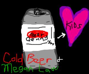 beer can loves children