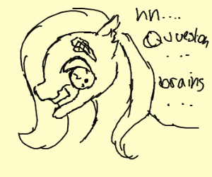 Zombie pony has a question for you.