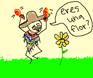 Mexican man asks flower if it's a flower