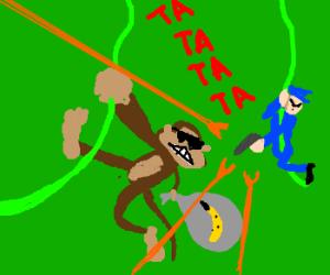 Monkey News: monkey in high speed police chase