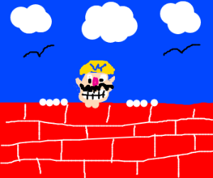 """Kilroy was here"" with Wario"