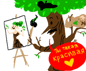 In Soviet Russia, trees paint people!