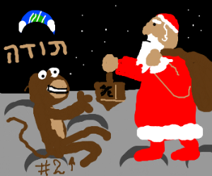 Hanuman finds a second monkey on the Mountain