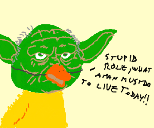 yoda doesn't like new movie role as duck
