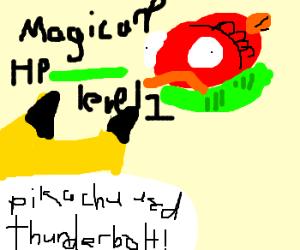 Pikachu used thunderbolt on a fish