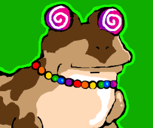 a different hypnofrog with lollipop eyes