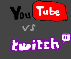 youtube logo vs. twitch logo