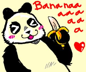 A Panda Eats Bananaaa