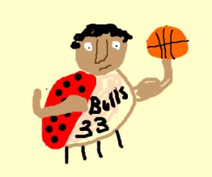 Scottie Pippen is a ladybug