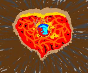 Fire Fox falls into the heart of a volcano