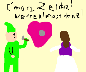 Link and Zelda, passionate love making