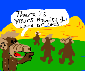 Alf leads his people into the desert