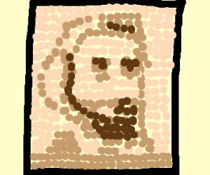 Abe Lincoln made out of pennies