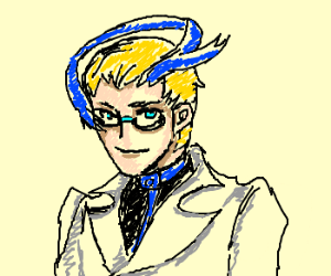 Anime doctor with ribbon on head