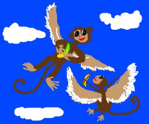 Flying monkeys still love bananas!