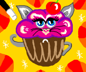 Animal is now a cupcake :3
