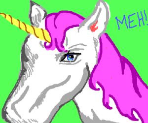 Unicorn is not impressed.