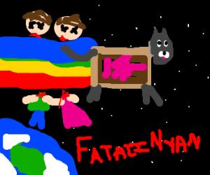 nyancat murders two children with rainbow trai