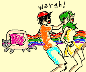 Nyan penetrates two hipsters.