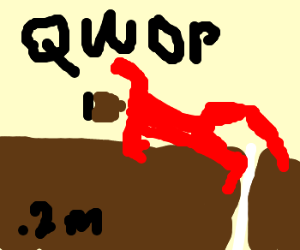 About to lose at QWOP at 0.2 meters.