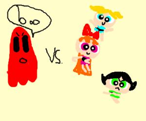 powerpuff girls vs red ghost