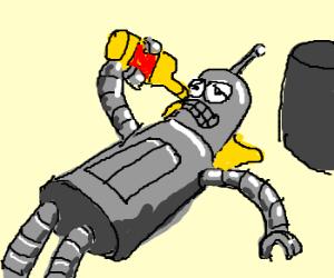Bender is drunk
