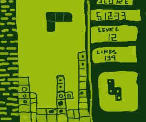 The original tetris on gameboy
