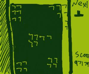 A classic game of Tetris