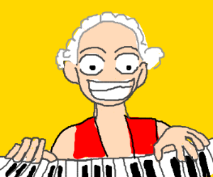 Monkey George Washington Plays Piano