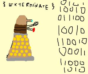 Dalek exterminates binary code