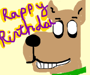 Pupiless Scooby says Rappy Rirthday