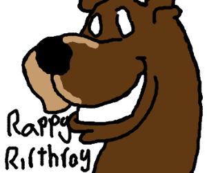 Dogs are wishing a user happy birthday