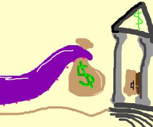 octupus bank robber
