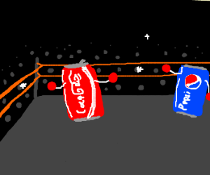 A boxing match between Coke and Pepsi