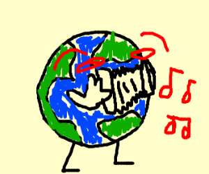 Earth and a panty liner make beautiful music