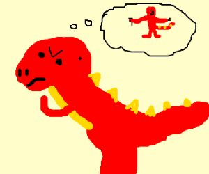 Angry Dino Thinks About Evolving