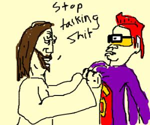 Jesus is warning a Slanderman.