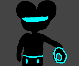 Mickey in Tron