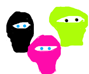 lots of colors and figures and robber facemask