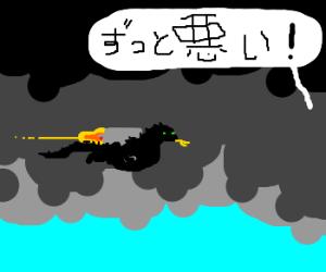 Whats worse thn Godzilla? Gdzilla w/ a jetpack