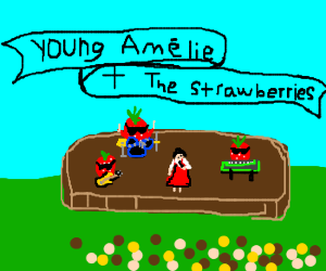 Young Amélie and the strawberries