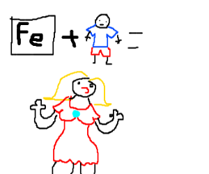 Fe=iron  male=man therefore I'm Ironman!
