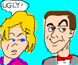 Charlize Theron thinks Peewee Herman is ugly