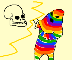 Death's Head vs. Rainbow Mummy.  Both scary.