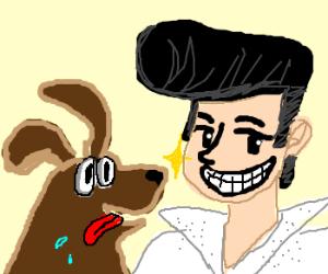Elvis and man's best friend
